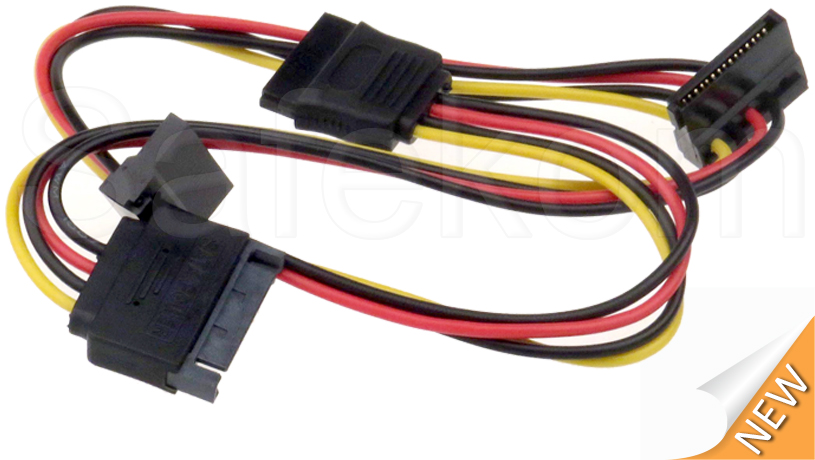Sata Connector Splitter : Sata male to way female power connector splitter