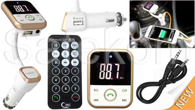 Wireless Bluetooth FM Transmitter MP3 Player SD USB Mobile Phone Charger Car Kit 11