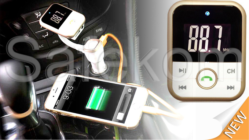 Wireless Bluetooth FM Transmitter MP3 Player SD USB Mobile Phone Charger Car Kit 13