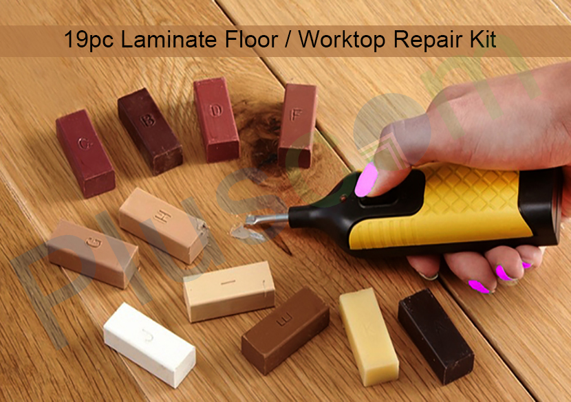 19pc Laminate Floor Amp Worktop Repair Tool Kit Wax System