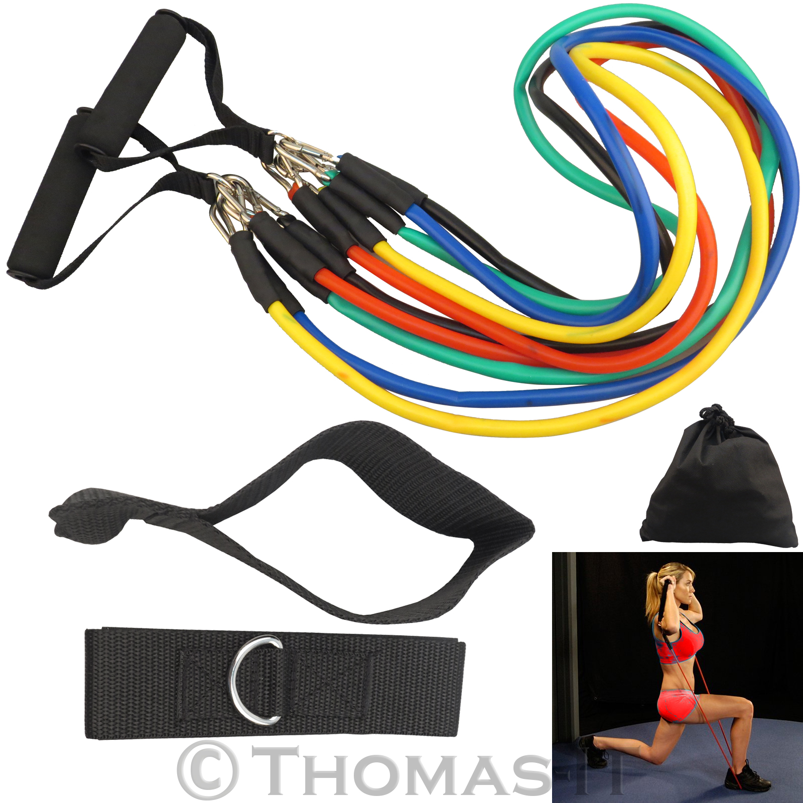 Resistance Bands Uk: Exercise Resistance Bands Set 13 Piece Heavy Duty Yoga