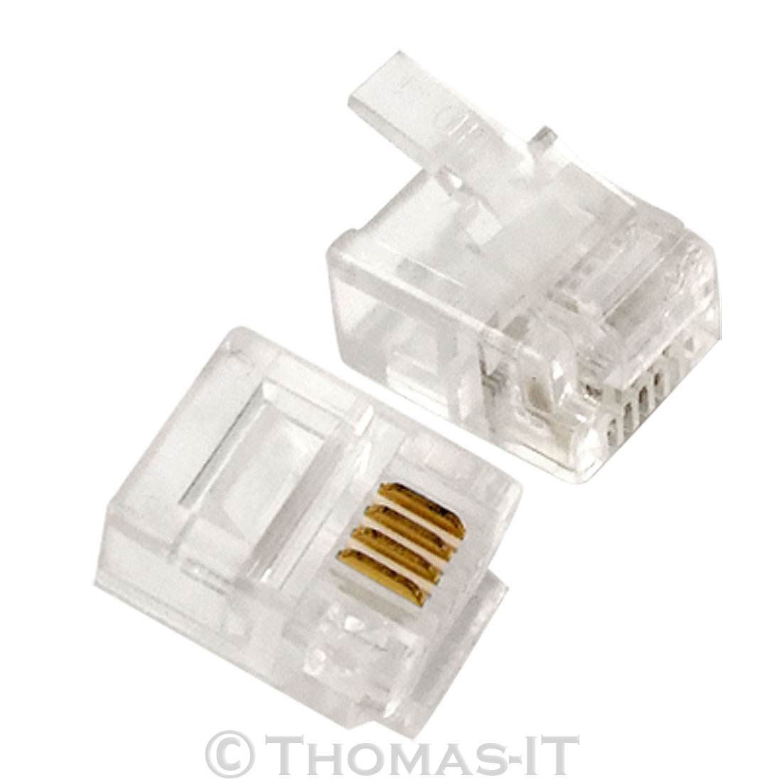 4 pin rj11 phone fax crimp adsl telephone cable lead plastic end connector ebay