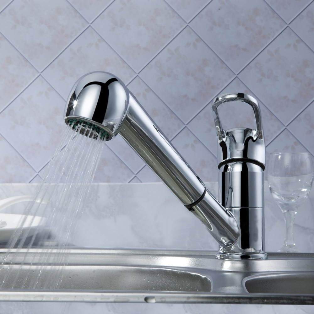 Pull Out Kitchen Mixer Sink Tap Replacement Spray Head - Sink Ideas