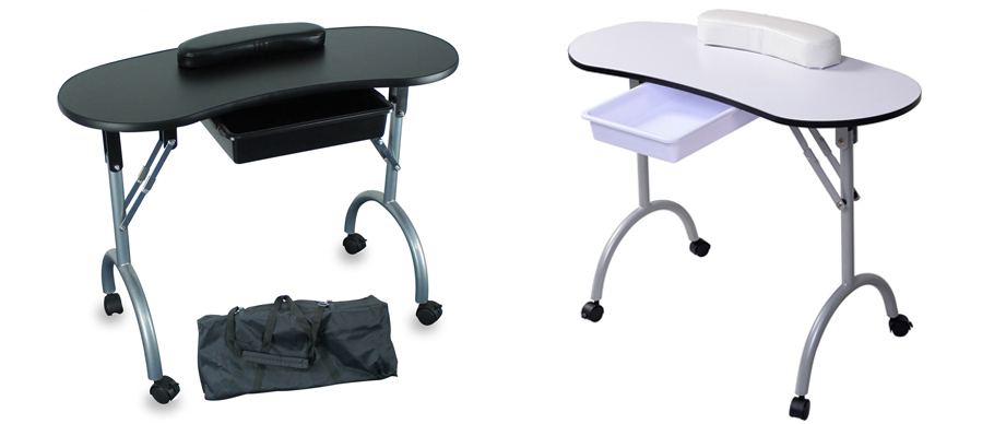 Foldable Portable Mobile Manicure Nail Art Salon Table