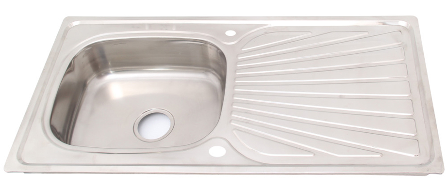 stainless steel kitchen sink with complete plumbing kit sku sink1l
